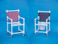 Shower Chair Select Fixed Arm PVC Frame Mesh Back 17 Inch Clearance ESC-17 Each/1 - 37023309