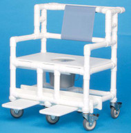 Bariatric Commode / Shower Chair ipu Fixed Arm PVC Frame Mesh Back 21.5 Inch BSC660P Each/1 - 66073309