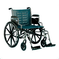 Bariatric Wheelchair Tracer IV Heavy Duty Padded Fixed Height Removable Desk Arm Mag Midnight Blue 24 Inch 350 lbs. T424RDAP Each/1 - 24424209