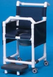 Commode / Shower Chair Deluxe Fixed Arm PVC Frame Mesh Back 20 Inch Clearance SCC777G Each/1 - 77613309