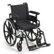 Wheelchair Viper Plus GT High Strength Lightweight Padded Adjustable Height Flip Back Removable Full Arm Mag Black 18 Inch 300 lbs. PLA418FBFAARAD-SF Each/1