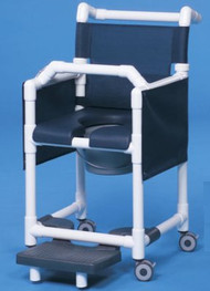 Commode / Shower Chair Deluxe Fixed Arm PVC Frame Mesh Back 20 Inch Clearance SCC777N Each/1 - 77713309