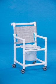 Commode / Shower Chair Fixed Arm PVC Frame Mesh Back 20 Inch Clearance SCC9250 Each/1