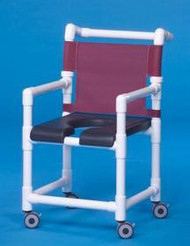 Shower Chair Deluxe Fixed Arm PVC Frame Mesh Back 20 Inch Clearance SC720G Each/1 - 72053309
