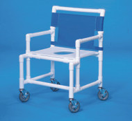 Shower Chair Oversize Fixed Arm PVC Frame Mesh Back 19 Inch Clearance SC200-OS-FS Each/1 - 22453309