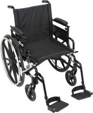 Wheelchair Viper Plus GT High Strength Lightweight Padded Adjustable Height Flip Back Removable Full Arm Mag Black 20 Inch 300 lbs. PLA420FBFAARAD-SF Each/1