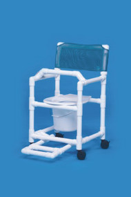 Commode / Shower Chair Standard Fixed Arm PVC Frame Mesh Back 17 Inch Clearance VL SC17 P FRLB Each/1 - 17033349
