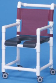 Shower Chair Deluxe Fixed Arm PVC Frame Mesh Back 20 Inch Clearance SC720G Each/1 - 72023309
