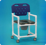 Commode / Shower Chair Economy Fixed Arm PVC Frame With Backrest 17 Inch Clearance ESC OF817 P B Each/1 - 47863309