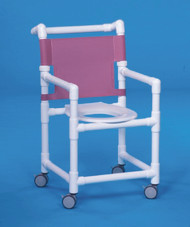 Shower Chair Select Fixed Arm PVC Frame Mesh Back 17 Inch Clearance ESC-17 Each/1 - 37013309