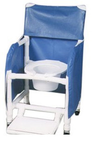 Commode / Shower Chair With Arms PVC Frame 118-3-FF-PS-18-10-QT-C Each/1