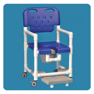 Commode / Shower Chair Elite Fixed Arm PVC Frame With Backrest 17 Inch Clearance ELT817 PFR G Each/1
