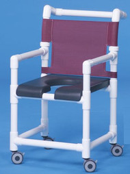 Shower Chair Deluxe Fixed Arm PVC Frame Mesh Back 17 Inch Clearance SC717N Each/1 - 71123309