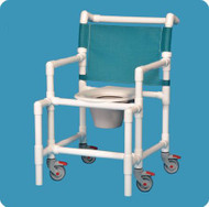 Shower Chair Fixed Arm PVC Frame Mesh Back 20 Inch Clearance SCC9250 OS Each/1
