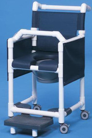 Commode / Shower Chair Deluxe Fixed Arm PVC Frame Mesh Back 20 Inch Clearance SCC777G Each/1 - 77643309