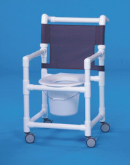 Commode / Shower Chair Select Fixed Arm PVC Frame Mesh Back 17 Inch Clearance ESC17 P Each/1 - 17423309