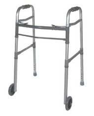 Dual Release Folding Walker Universal drive Aluminum 300 lbs. 28.75 to 38.5 Inch 10253-1 Each/1 - 11253800