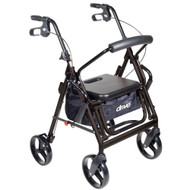 Rollator / Transport Chair Duet Black Folding Aluminum 37 Inch 795BK Each/1 - 75993800