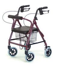 4 Wheel Rollator Lumex Walkabout Lite Royal Blue Lightweight Aluminum RJ4300B Each/1 - 43043800