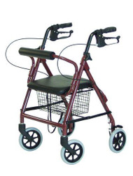 4 Wheel Rollator Lumex Walkabout Junior Burgundy Lightweight Aluminum RJ4301R Each/1