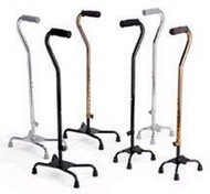 Quad Cane Aluminum 30 to 39 Inch Black MDS86222W Case/2