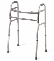 Bariatric Dual Release Folding Walker Adult Standard Aluminum 500 lbs. 31 to 41 Inch MDS86410XW Each/1