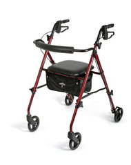 4 Wheel Rollator Freedom Burgundy Ultra Lightweight 29.5 to 36 Inch MDS86825SLR Case/1
