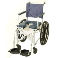 Commode / Shower Chair Mariner Drop Arm Aluminum Frame Padded Back 22.5 Inch 6795 Each/1