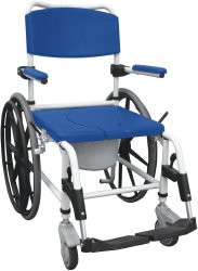 Commode / Shower Chair drive Padded Fixed Arm Aluminum Frame Padded Back 19.5 to 21.5 Inch NRS185006 Each/1
