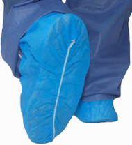 Shoe Cover McKesson X-Large Shoe-High No Traction Blue NonSterile 16-3515 Case/100