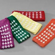Slipper Socks Adult Large Green Above the Ankle 6239LG Pair/2