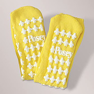 Slipper Socks Adult Large Yellow Above the Ankle 6239LY Pair/2 - Hey Med Supply