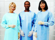 Over-the-Head Protective Procedure Gown One Size Fits Most Blue Unisex NonSterile 5210PG Case/75