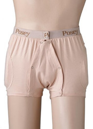 Hip Protection Brief Hipsters Incontinent Medium Beige Unisex 6017M Each/1