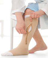 Compression Stocking and Liner Jobst UlcerCARE  Zippered Knee-high X-Large Beige 114523 Each/1