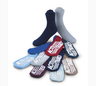 Slipper Socks Acti-Tred Adult Medium Blue Above the Ankle 99934 Case/48