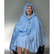 Shower Poncho Blue One Size Fits Most 23 X 34 Inch Front Opening 909130 Each/1 - 73591100