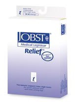 Compression Stockings Jobst Relief Thigh-High Small Beige Open Toe 114652 Pair/1