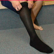 Compression Stockings Jobst Knee-High Large Black Closed Toe 115518 Pair/1