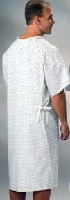 Patient Exam Gown Large Amity Blue Print Adult 70820430 DZ/12