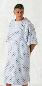 Patient Exam Gown 10 X-Large Teal Diamond Print Adult 45289-10XL DZ/12
