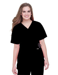 Scrub Shirt 4 X-Large Black 73021082 Each/1