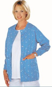 Warm-Up Jacket A-1 Ceil Blue Small Long Sleeve Hip Length 46589-113 Each/1