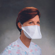 Particulate Respirator / Surgical Mask N95 Flat Fold Elastic Strap One Size Fits Most White 62126 Case/300 - 62131106