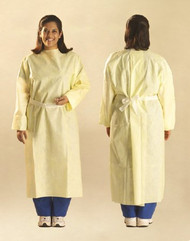 Protective Procedure Gown One Size Fits Most Yellow Unisex AT6100 Case/100