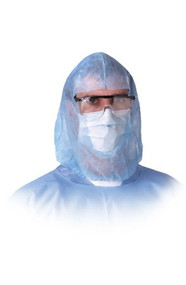 Head and Beard Cover One Size Fits Most Blue Elastic NONSH600 Case/300
