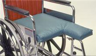 Double Amputee Seat Cushion AliMed 18 X 22 X 2 Inch Foam 1387 Each/1