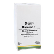Rapid Diagnostic Test Kit Hemoccult II Dispensapak Plus Colorectal Cancer Screen Fecal Occult Blood Test (FOB) Stool Sample CLIA Waived 40 Tests 61130A Box/40