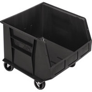 "CD674 HD MOBILE Plastic Bins (BLACK) 16.5""Wx18""Dx14""H"