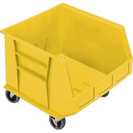 "CD670 HD MOBILE Plastic Bins (YELLOW) 16.5""Wx18""Dx14""H"